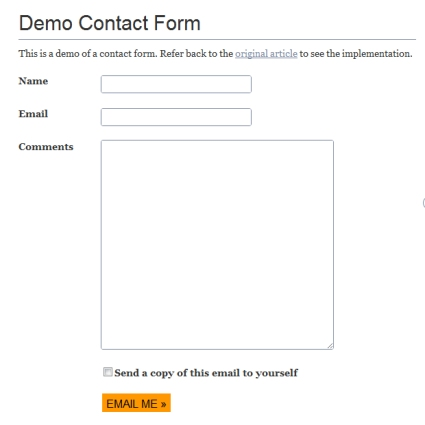 WordPress and jQuery Contact Form Without a Plugin