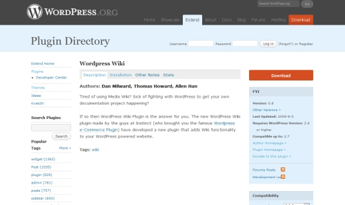 WordPress Wiki