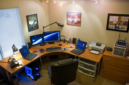 a home office. a home office f