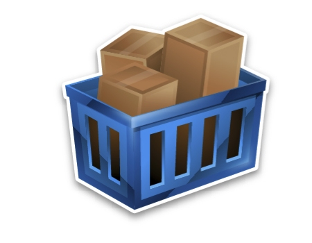 Make 3D Yet Flat  Looking Shopping Basket Icons