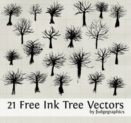 Ink Tree Vectors
