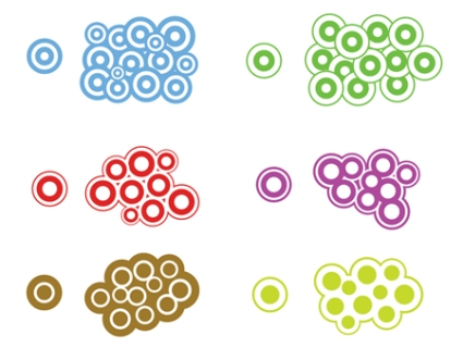 Trendy Circle Vectors