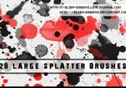 Large Splatter Brushes
