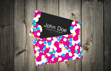 Creating  a Colorful, Vibrant Business Card