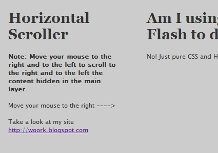 Using CSS and MooTools to Simulate Flash Horizontal Navigation Effect