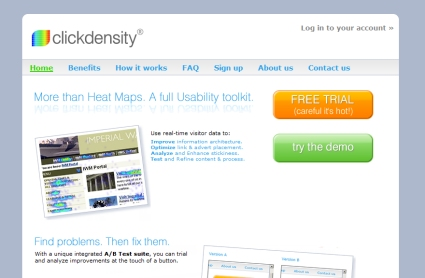 Clickdensity