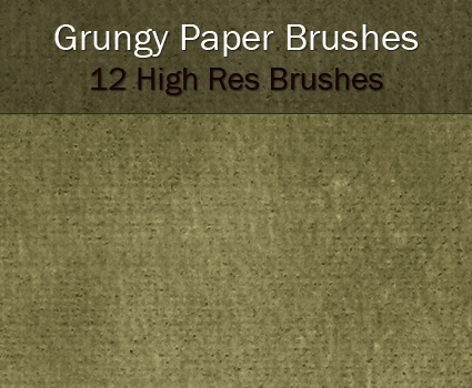 High Res Grungy paper Brushes