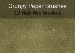 Grungy Paper Brushes