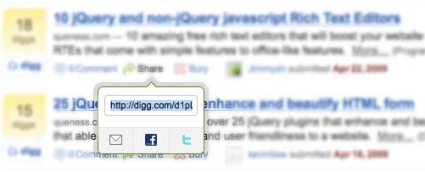 Create a Digg-Style Post Sharing Tool with jQuery