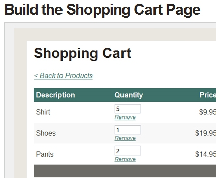 Build a Shopping Cart in ASP.NET