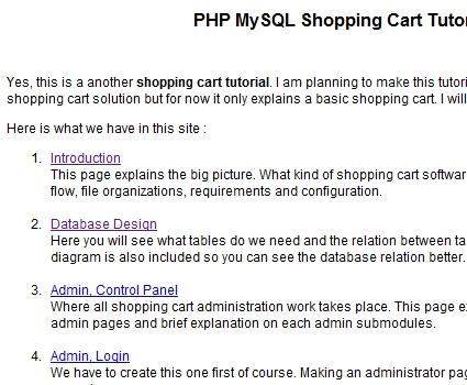 PHP MySQL Shopping Cart Tutorial