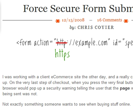 Force Secure Form Submission