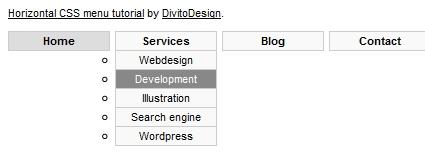 How-to: DropDown CSS Menu
