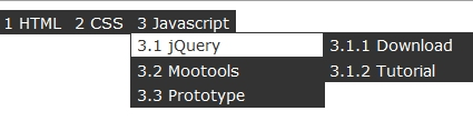 Create a Multilevel Dropdown Menu with CSS and Improve it with jQuery