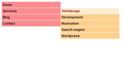 Vertical CSS Menu with a