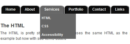 CSS Tabs Menu with Dropdowns