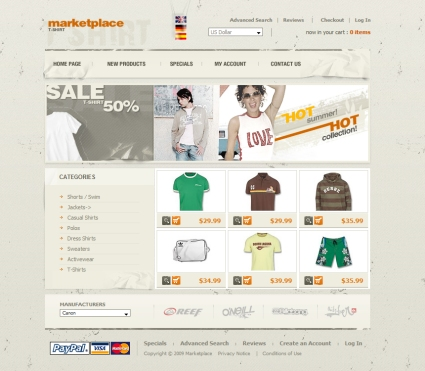 osCommerce Templates