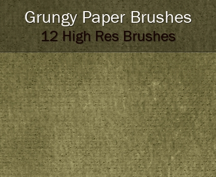 Grungy Paper Brushes for Photoshop