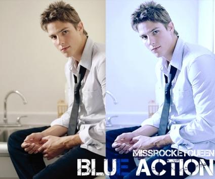 Ação azul