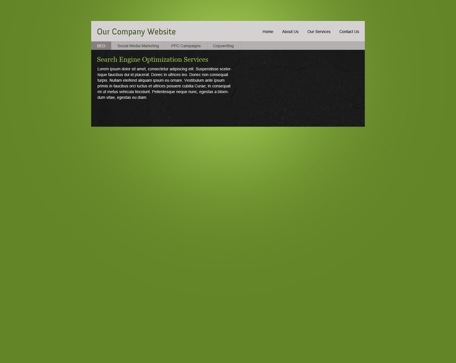 Design a Green Corporate Layout in Photoshop - DesignM.ag