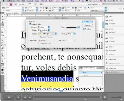 Custom Underlines in InDesign