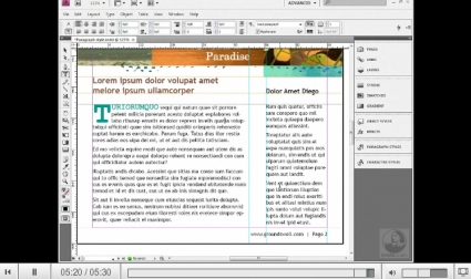 Getting Started: 05 Making a Paragraph Style