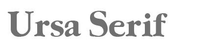 Ursa Serif