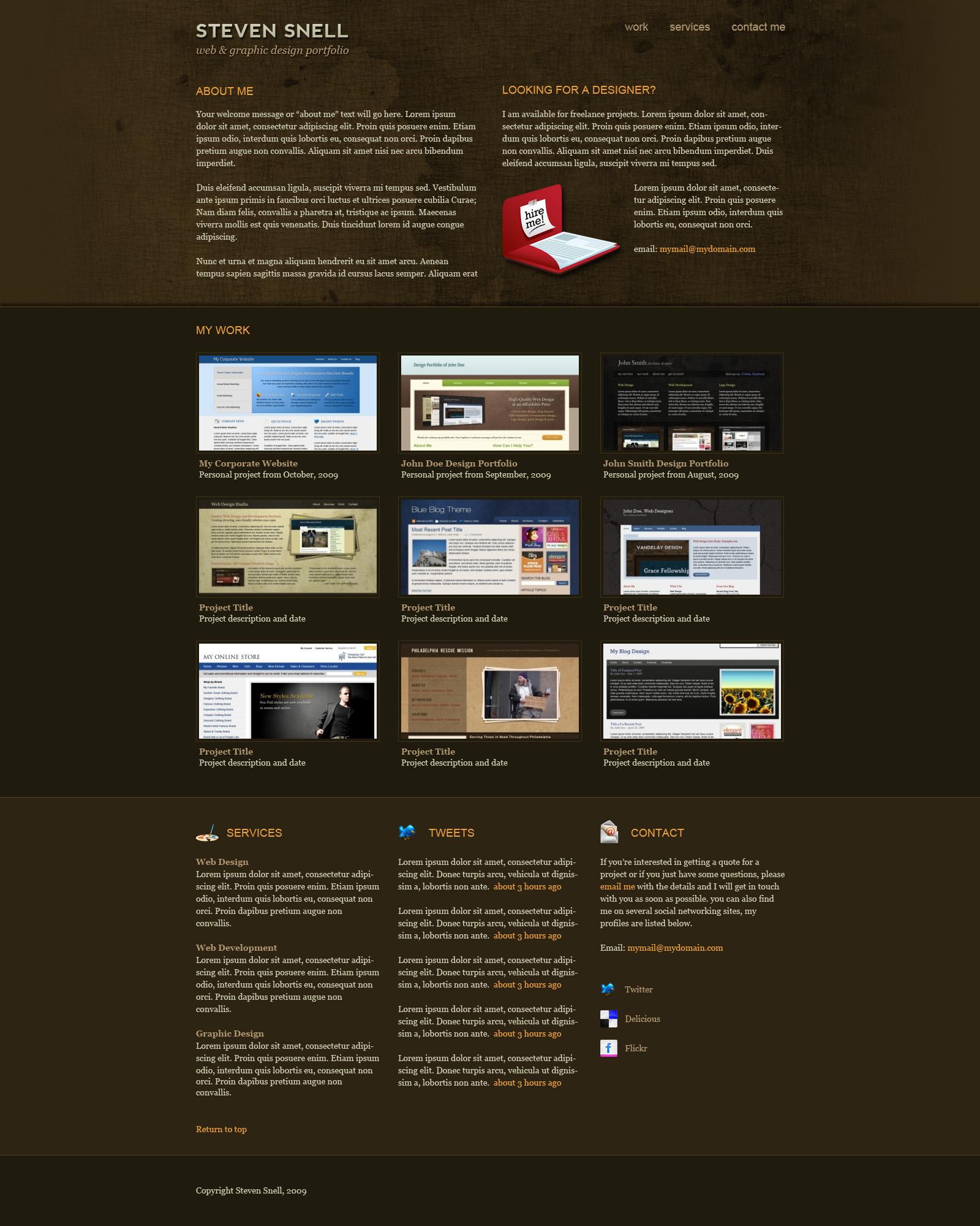 Design an attractive one page portfolio using photoshop designm photoshop layout tutorial one page portfolio baditri Gallery