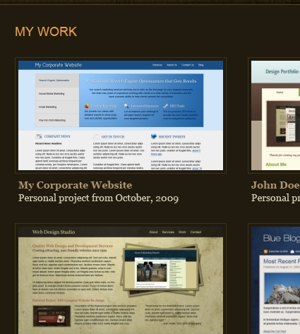 Photoshop Layout Tutorial - One-Page Portfolio
