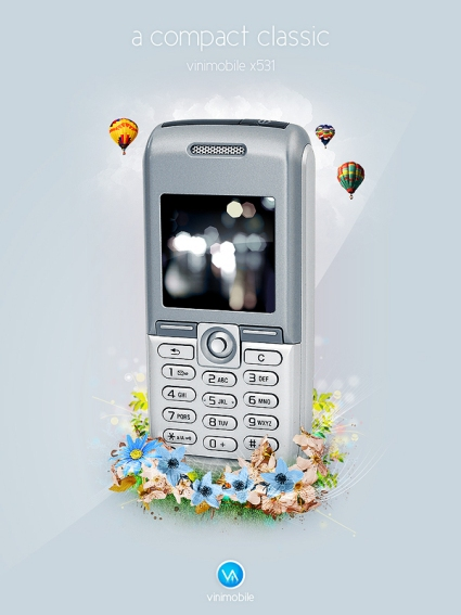 Create a Mobile Phone Ad Design