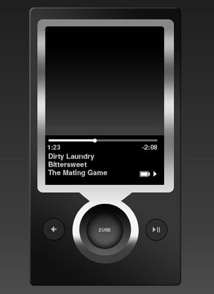 Skin for MP3 Player Zune