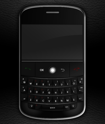 Create a Realistic Blackberry Style Mobile Phone from Scratch