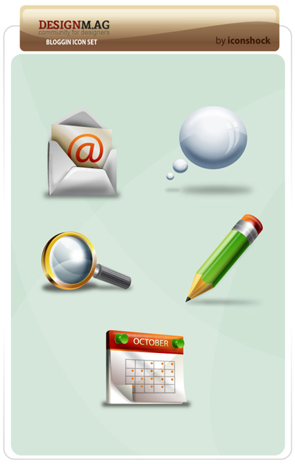Blogging Icon Set
