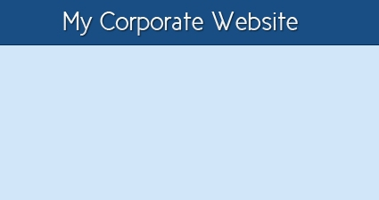 Design Blue Corporate Website in Photoshop