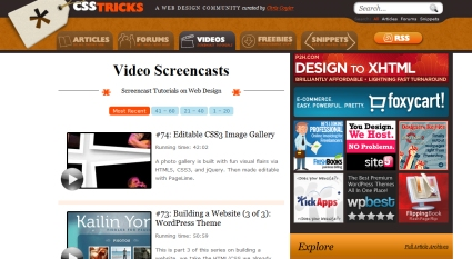 CSS Tricks Screencasts