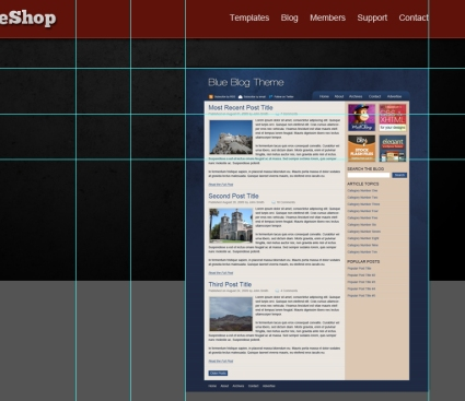 Photoshop layout tutorial - PremiumTemplateShop