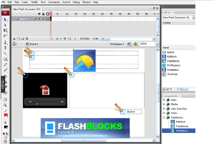 Flashblocks Flash CMS