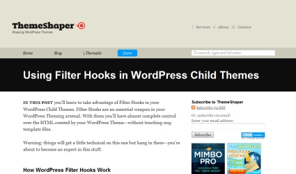 Using Filter Hooks in Child Themes