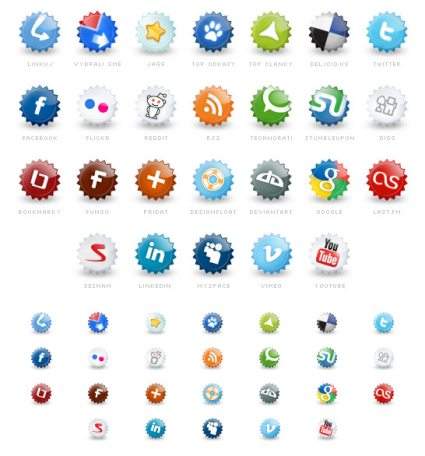 12 Cute Blogging Icon Set