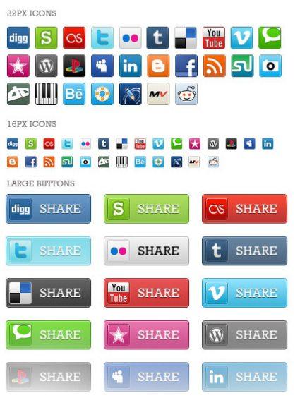 Pixel Perfect Social Media Icons