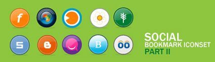 Social  Bookmark Iconset - Part II