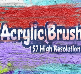 Acrylic Brush Strokes