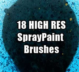 High Res  Spray Paint Brushes