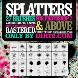 Spray Paint  Splatters