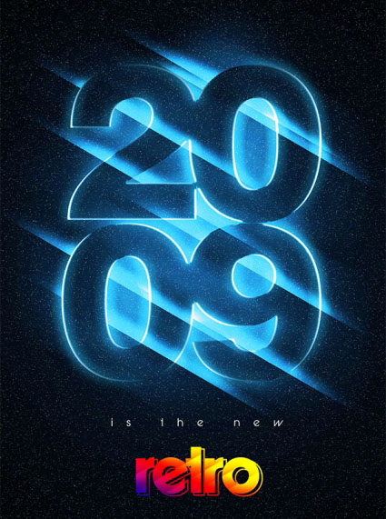 Showcase of Typography and Lighting Effects
