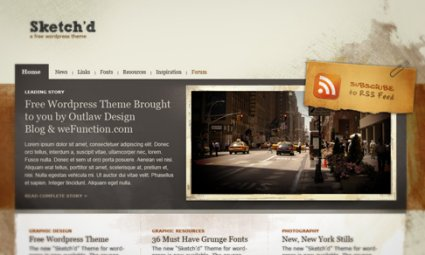 Grunge WordPress Themes