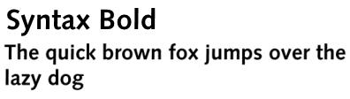 Syntax Bold
