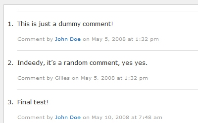 WordPress Comments Tutorials
