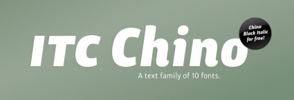 ITC Chino - Pro Black Italic