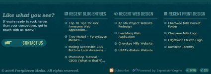 Showcase of Blog Footers